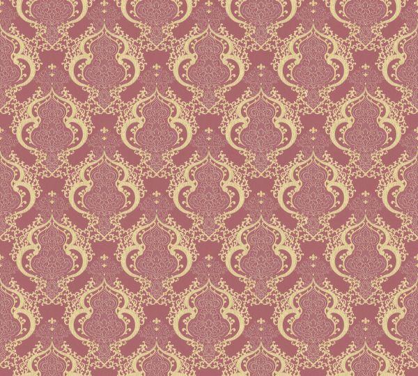 Vliestapete Barock Ornament rot gold metallic Großrolle