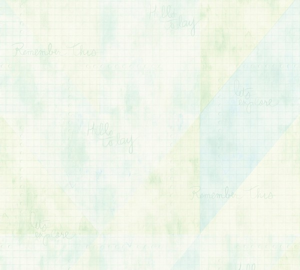Vliestapete Karo Muster grafisch Schrift hellgrün