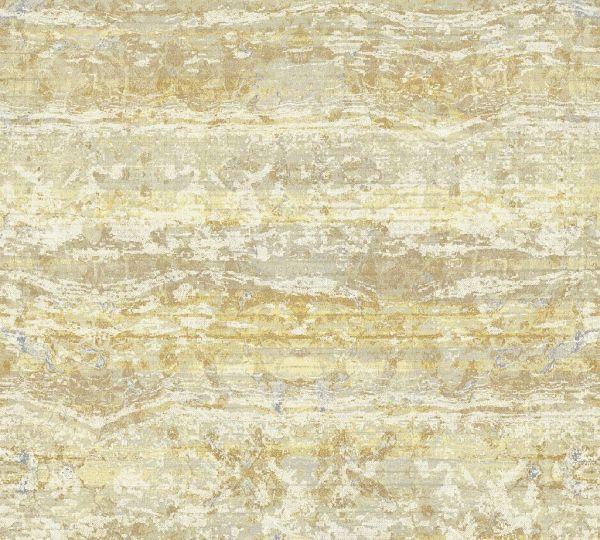 Vliestapete Textil Used Look Balken Optik creme gelb