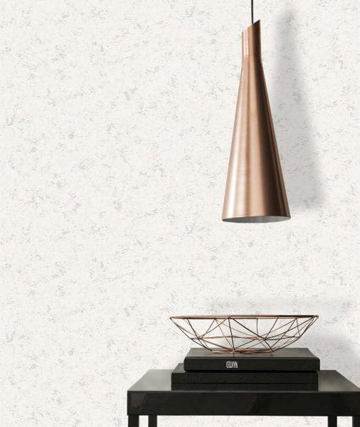 Vliestapete Beton Optik weiß silber metallic