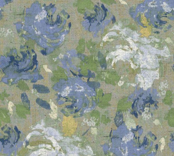 Florales Muster Vliestapete grün blau Character