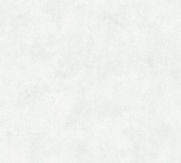 Vliestapete Uni Textil Optik weiß grau