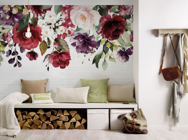 Fototapete Digitaldruck Blumengemälde 255 x 350 cm