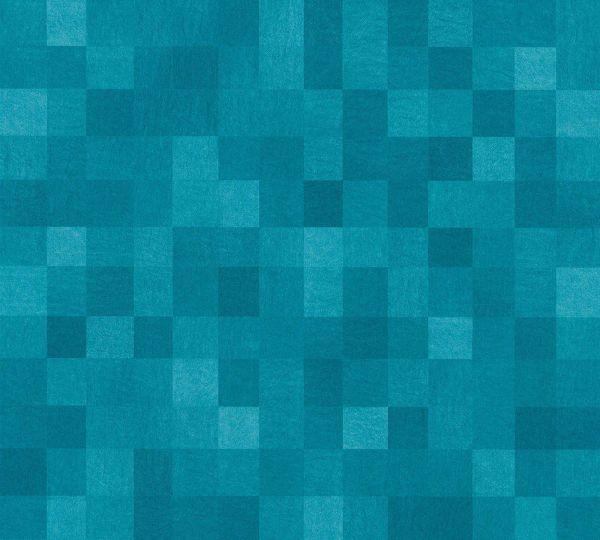 Vliestapete Kacheln Pixel Muster türkis