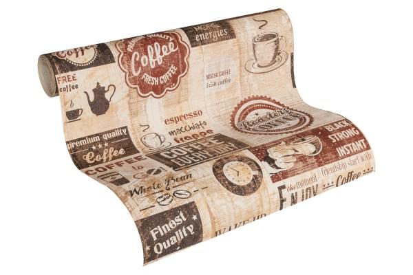Papier Küchen Tapete Kaffe Coffee Cafe terra