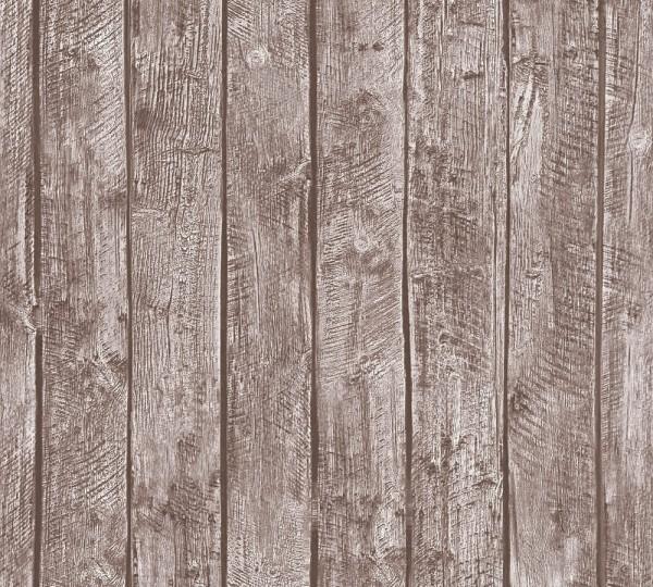 Kinder Vliestapete Holz Bretter Muster braun