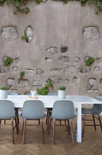 Vlies Fototapete Beton Stein Mauer grau 200x280cm