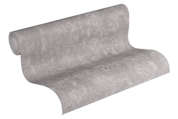 Uni Vliestapete Beton Optik Steinwand grau