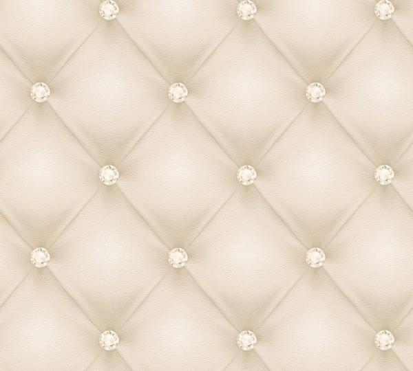 Vliestapete Leder Optik Diamant creme