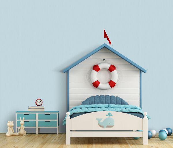 Vliestapete Uni Streifen Struktur blau türkis