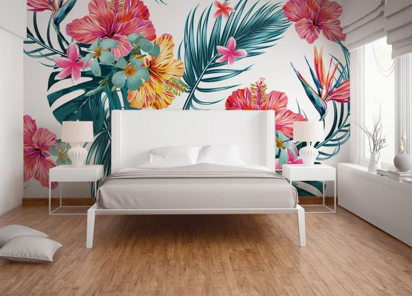Fototapete Digitaldruck Gemälde Tropical bunt 255 x 350 cm