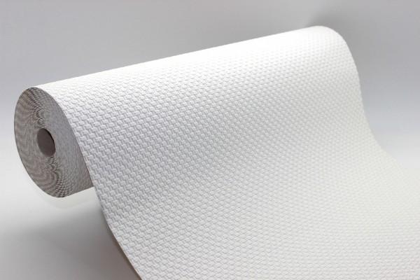 Uni Struktur Tapete 15 m Rolle weiß Glasfaser Struktur
