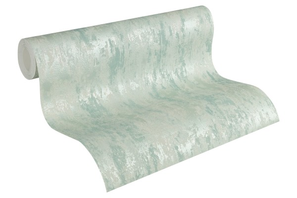 Steintapete Patina Struktur mint grün metallic