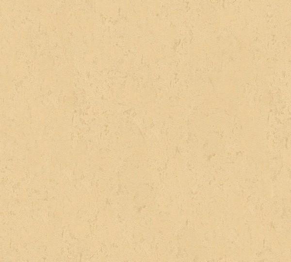Vliestapete Uni Struktur glanz beige