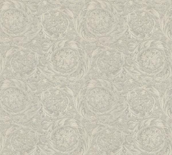 Versace 4 Vliestapete Kreis Ornament creme grau metallic