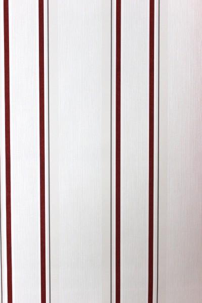 Vliestapete Streifen Muster weiß rot