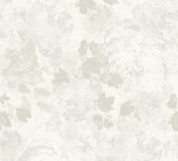 Florales Muster Vliestapete grau weiß Character