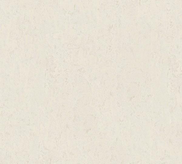 Vliestapete Uni Struktur glanz creme weiß