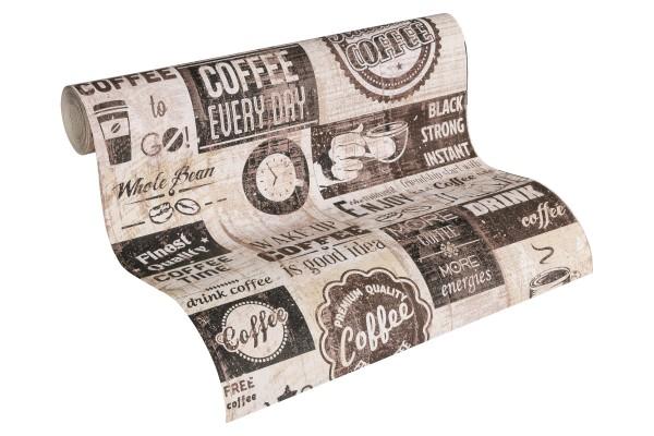 Papier Küchen Tapete Kaffe Coffee Cafe braun
