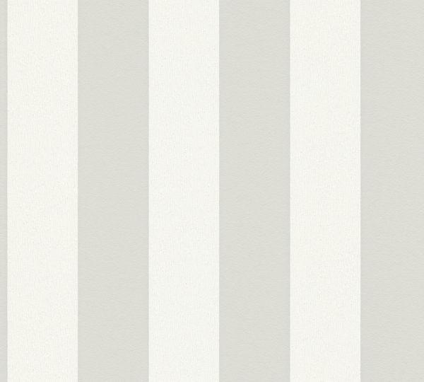 Vliestapete Streifen Struktur Blockstreifen weiß hell grau