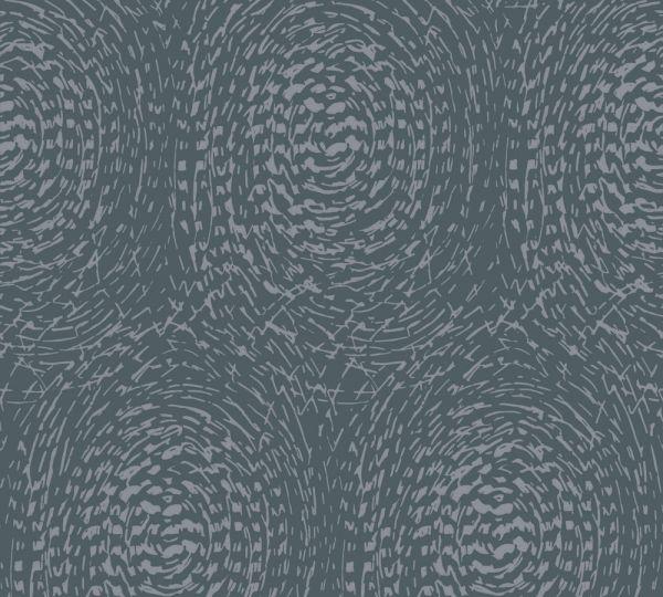 Vlies Tapete grafische abstrakte Kreise blau grau metallic