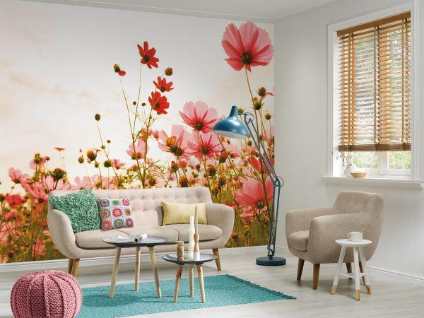 Fototapete Digitaldruck Blumenwiese gemalt 255 x 350 cm