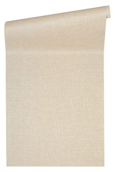 Uni Struktur Vliestapete creme beige metallic Versace 4