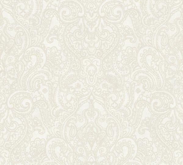 Vliestapete Boho Henna Ornament beige grau