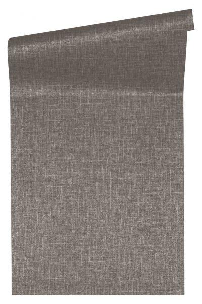 Uni Struktur Vliestapete braun grau metallic Versace 4