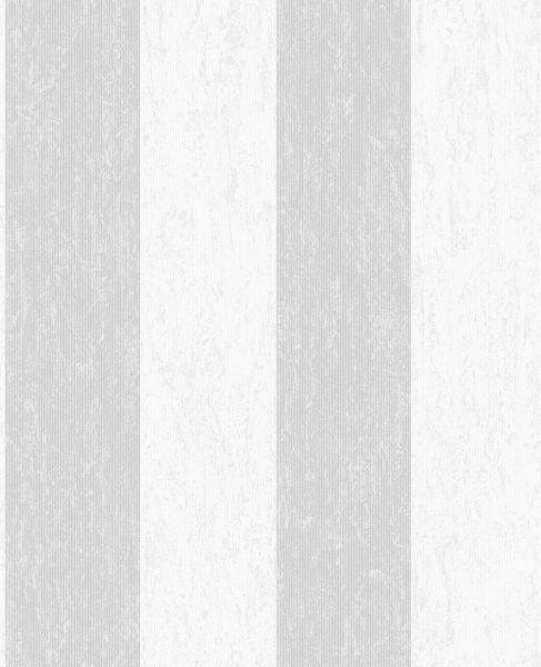 Vliestapete Streifen Struktur silber weiß glanz metallic