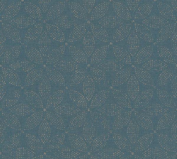 Vliestapete grafisches Kreismuster blau
