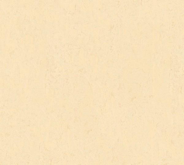 Vliestapete Uni Struktur glanz creme beige