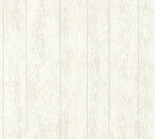 Vliestapete Holz Optik Paneele creme beige verwittert