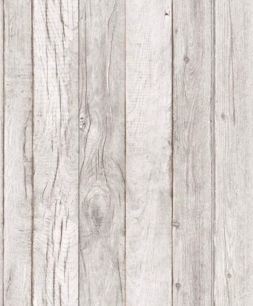 Vliestapete Antik Holz creme grau