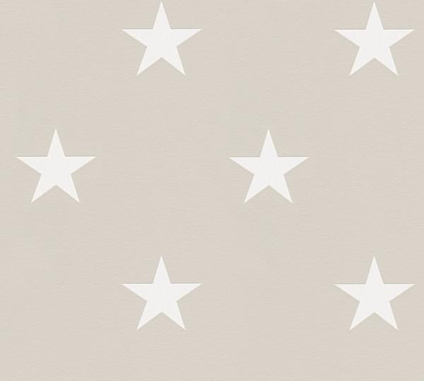 Sterne Tapete by Michalsky Living grau weiß