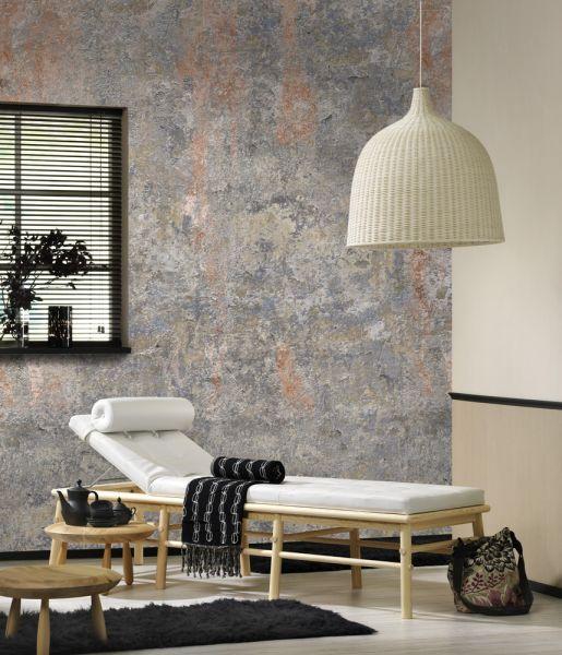 Vlies Fototapete alte Beton Steinmauer rost 200x280cm
