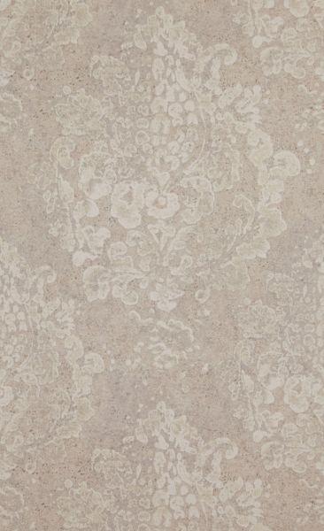 Vliestapete Neobarock Beton Ornament beige verwittert