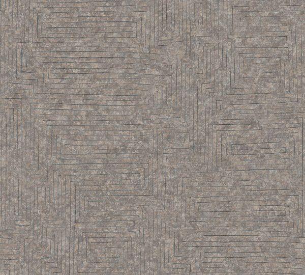 Vliestapete Labyrinth Muster taupe braun