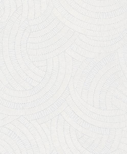Vliestapete scandinavian Kreise Optik modern weiß