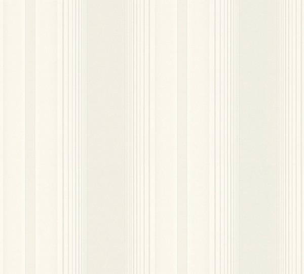 Vliestapete Streifen weiß silber metallic