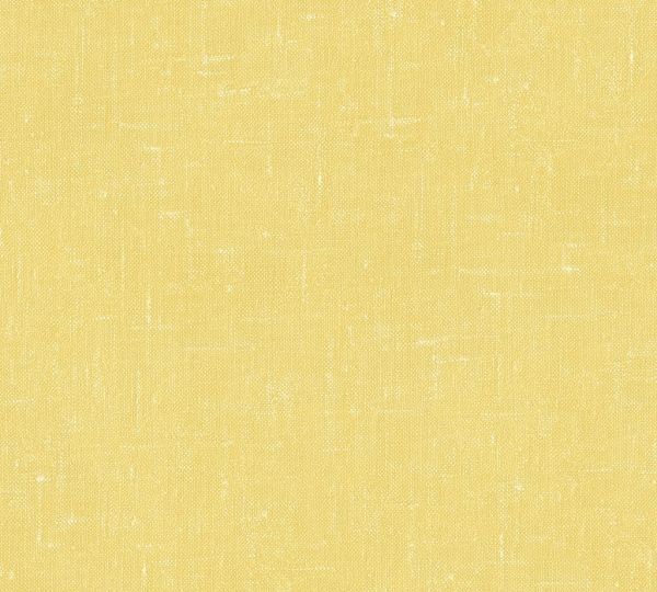 Vliestapete Uni Struktur Textil Optik gelb