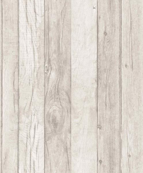 Vliestapete Antik Holz beige