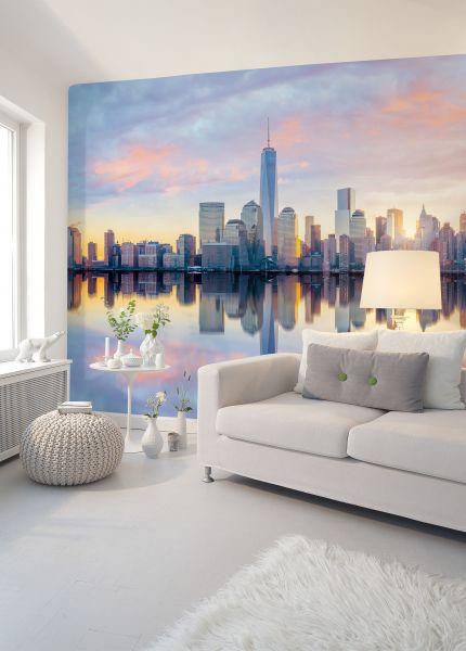 Fototapete Digitaldruck NY Skyline Sonnenuntergang 255 x 350 cm