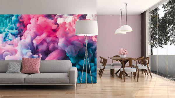 Fototapete Digitaldruck 3D farbiger Rauch abstrakt 255 x 350 cm
