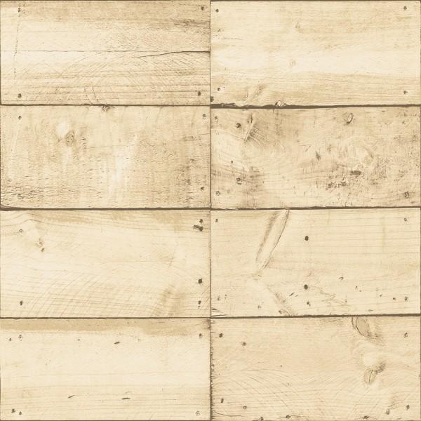 Vliestapete Holz Optik beige braun Bretter Kisten