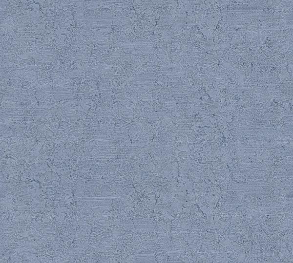 Vliestapete Uni Struktur blau Großrolle
