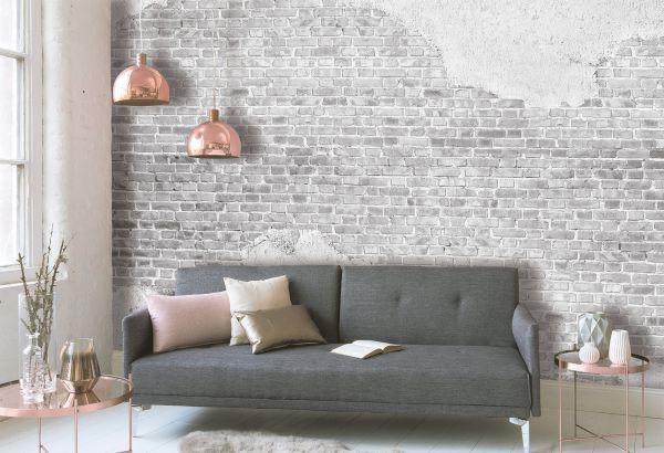 Fototapete Digitaldruck alte Ziegelstein Mauer 255 x 350 cm