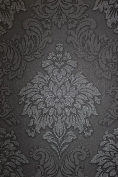 Vliestapete Barock Ornament schwarz