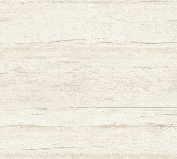 Vliestapete Querbalken Holz Optik creme