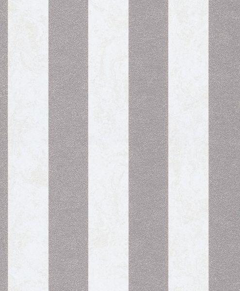 Vliestapete Carat Streifen creme silbergrau glänzend